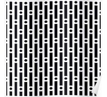 Modern Black and White Circles and Stripes Poster