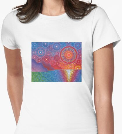 Kauai, Hawaii Sunset Womens Fitted T-Shirt