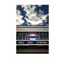 Mile End Tube Station Art Print