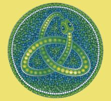 Green Ouroboros Celtic Snake Baby Tee