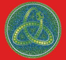 Green Ouroboros Celtic Snake One Piece - Long Sleeve