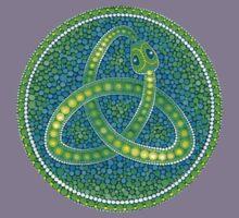 Green Ouroboros Celtic Snake Kids Clothes
