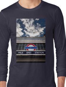 Mile End Tube Station Long Sleeve T-Shirt