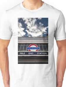 Mile End Tube Station Unisex T-Shirt