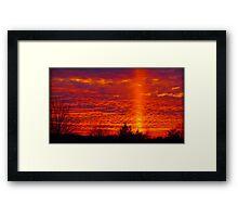 December Sunset Framed Print