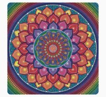 Lotus Rainbow Mandala One Piece - Short Sleeve