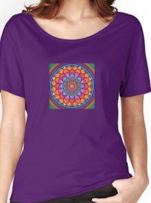 Lotus Rainbow Mandala T-shirt femme coupe relax