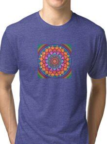Lotus Rainbow Mandala Tri-blend T-Shirt
