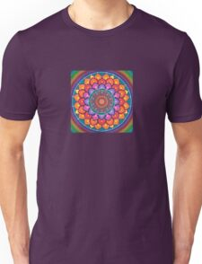 Lotus Rainbow Mandala Unisex T-Shirt
