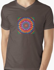 Lotus Rainbow Mandala Mens V-Neck T-Shirt