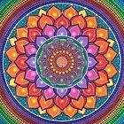 Lotus Rainbow Mandala by Elspeth McLean