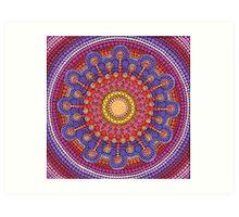 Jewel Drop Mandala Art Print