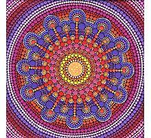 Jewel Drop Mandala Photographic Print