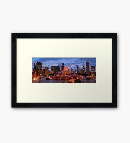 2013 Chicago Blackhawks Skyline Framed Print