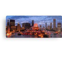 2013 Chicago Blackhawks Skyline Metal Print