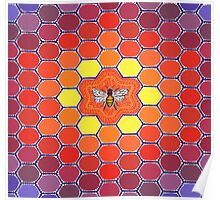 Bee Sacred Geometry Poster