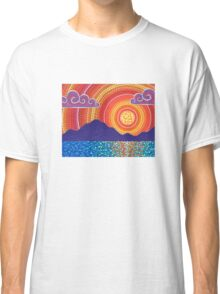 Elegant Sunset over Mountains Classic T-Shirt