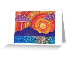 Elegant Sunset over Mountains Greeting Card