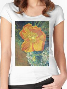 Yellow California Poppy Women's Fitted Scoop T-Shirt