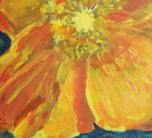 Yellow California Poppy Sticker