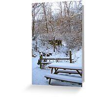 Winter Yard Greeting Card