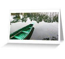Floating on a mirror Greeting Card