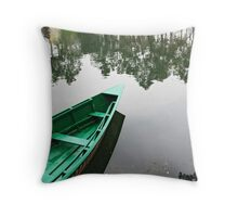 Floating on a mirror Throw Pillow