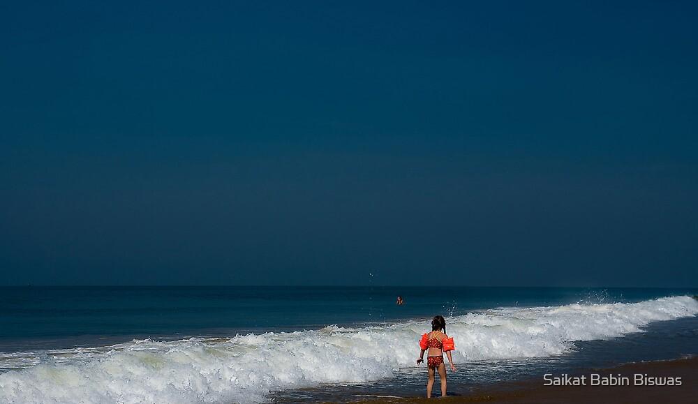Shameless sea, aimlessly so blue..... by Saikat Babin Biswas