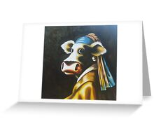 Reproduction ,girl with a pearl earring, Vermeer Greeting Card