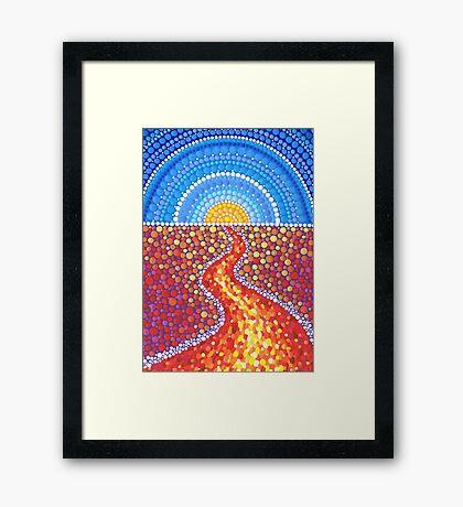 Desert Path Framed Print