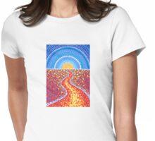 Desert Path Womens Fitted T-Shirt