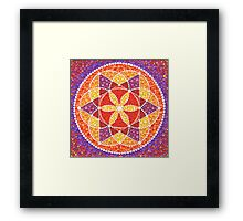 Sacred Geometry Star Flower Framed Print