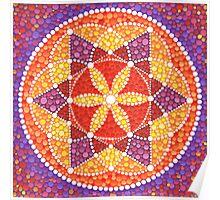 Sacred Geometry Star Flower Poster