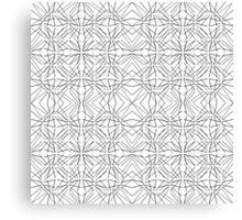 Modern Funky Geometric Line Pattern Canvas Print
