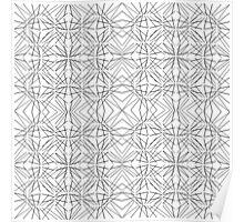 Modern Funky Geometric Line Pattern Poster