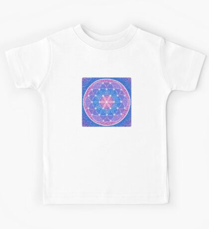 Starry Flower of Life Kids Tee