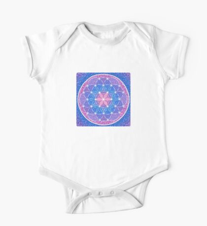 Starry Flower of Life One Piece - Short Sleeve