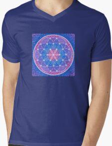 Starry Flower of Life Mens V-Neck T-Shirt
