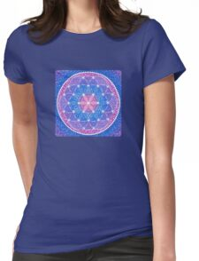 Starry Flower of Life Womens Fitted T-Shirt