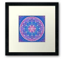 Starry Flower of Life Framed Print