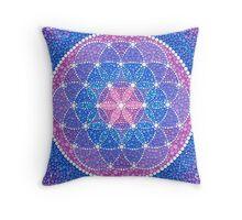Starry Flower of Life Throw Pillow