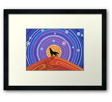 Night of the Wandering Wolf Framed Print