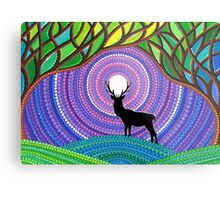 A Silent Visitor Metal Print