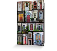 Doors of Charleston Greeting Card