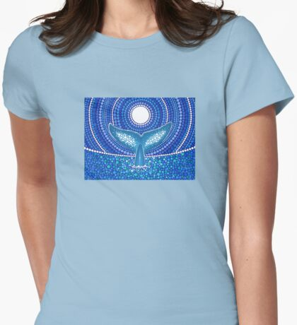 Whale of a Tale Womens Fitted T-Shirt