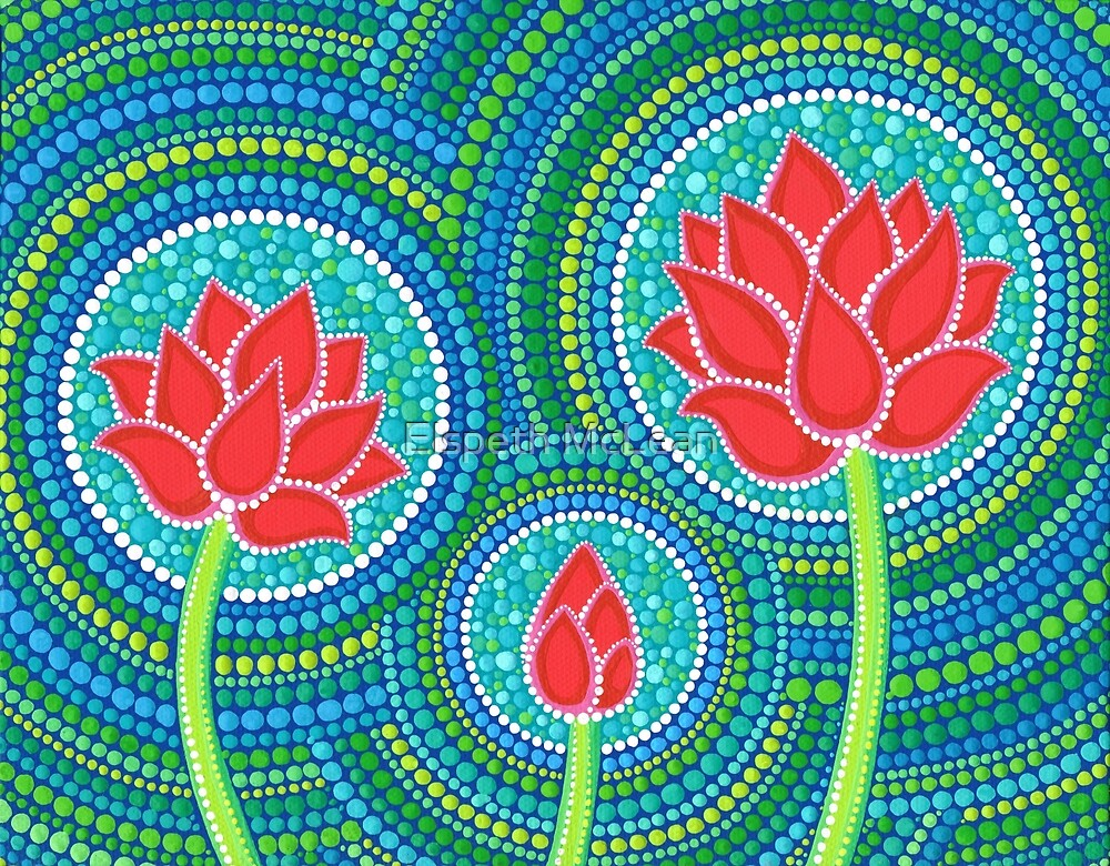 """Lotus Family of Three"" by Elspeth McLean 