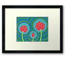 Lotus Family of Three Framed Print