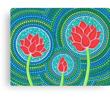 Lotus Family of Three Canvas Print