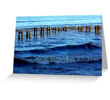 Sandsend  Sea Defence Greeting Card