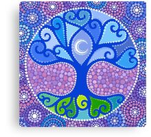Moon-Tree Mandala Canvas Print